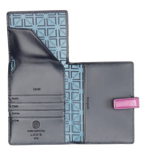 Lodis leather passport holder