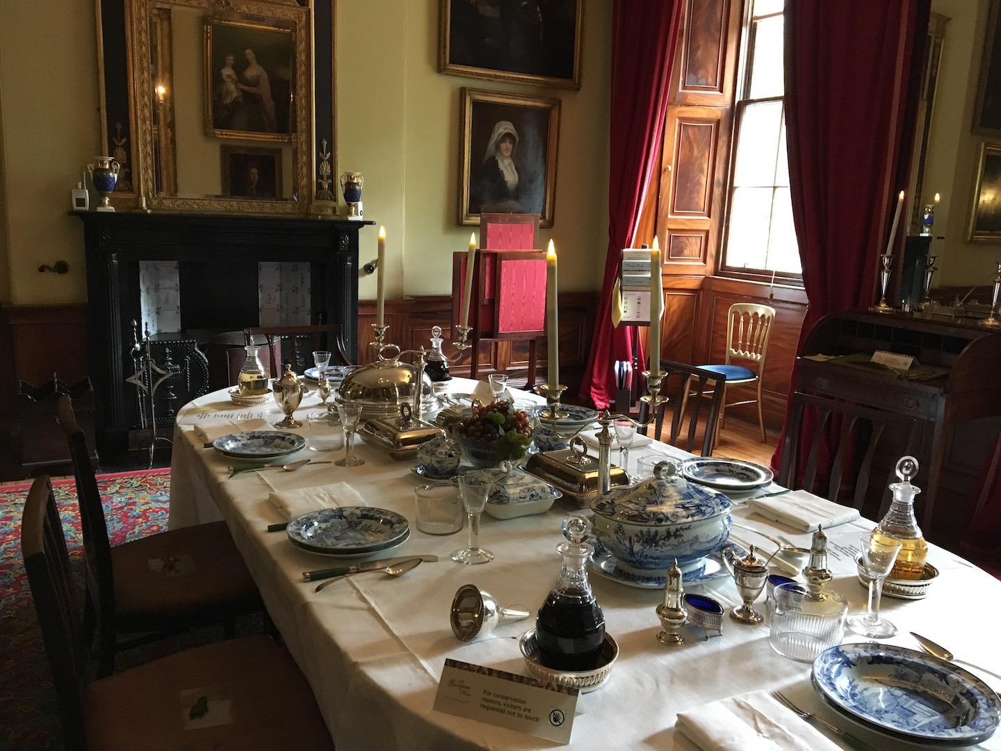 Georgian House Edinburgh table